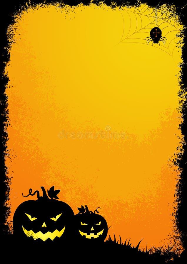 Halloween van Grunge grens stock illustratie