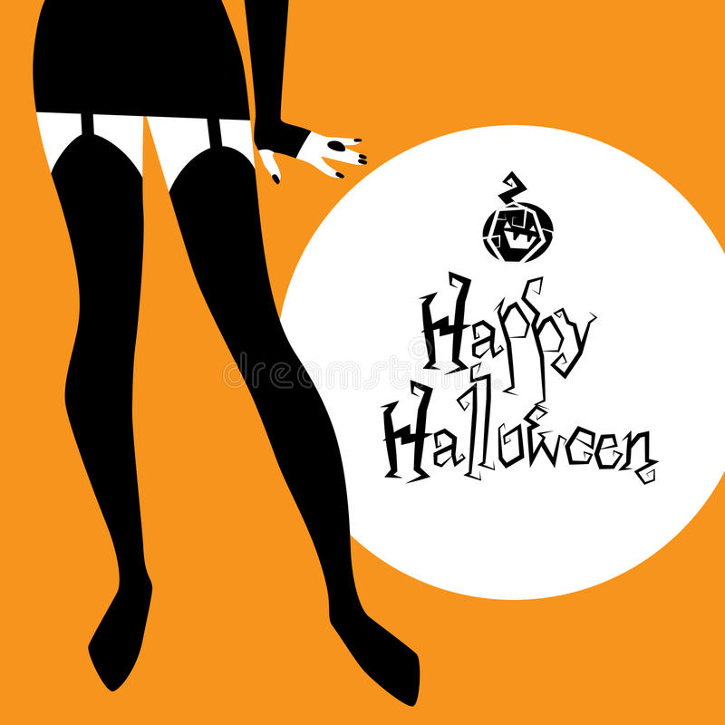 Halloween vector background royalty free illustration