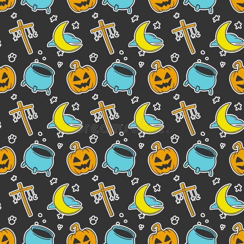 Halloween. Vector concept in doodle and sketch style. Hand drawn illustration for printing on T-shirts, postcards vector illustration