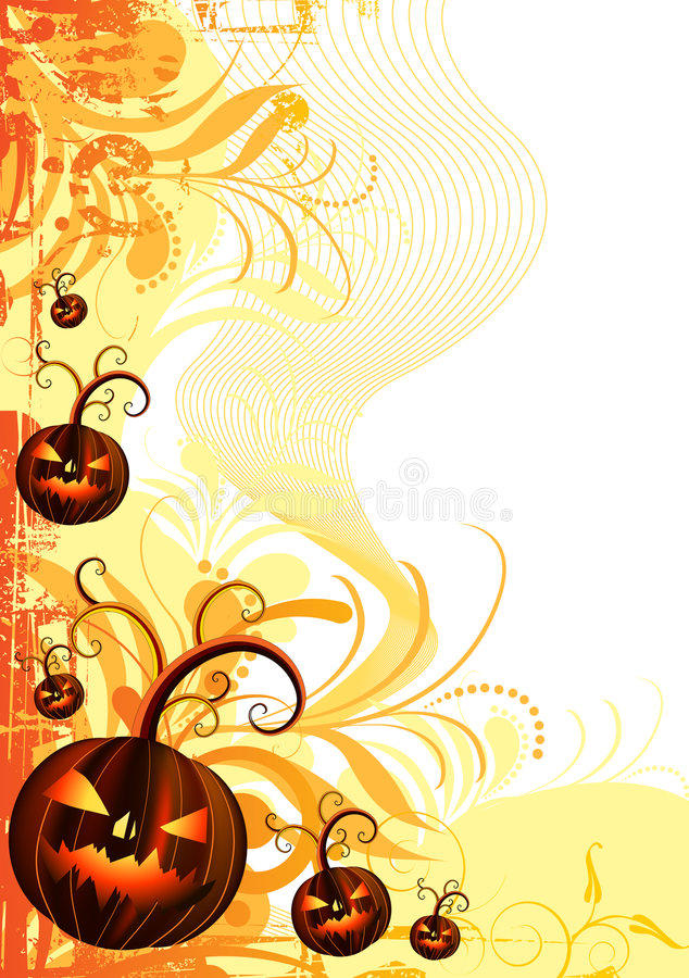 Halloween Vector Frame royalty free stock photos