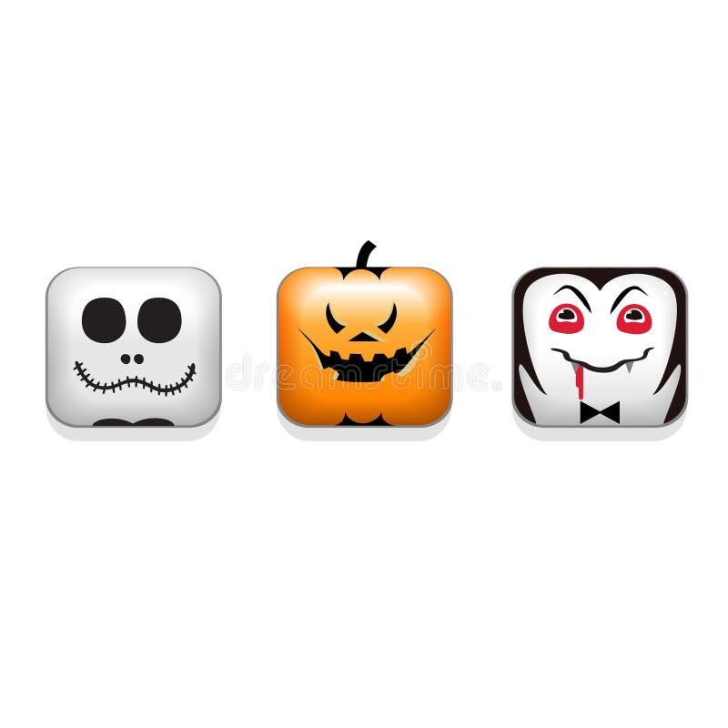 Download Halloween vector Icons set stock illustration. Illustration of castle - 20393253