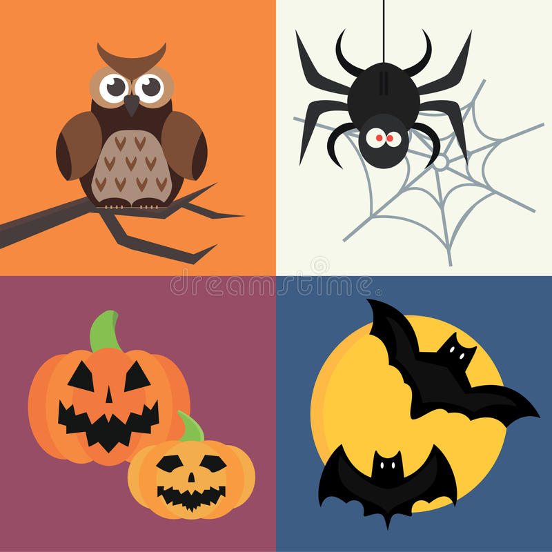 Free Halloween Vector Icons Set Traditional Trick Or Treat Celebration Cemetery Collection And Darkness Decoration Design Stock Image - 88859061