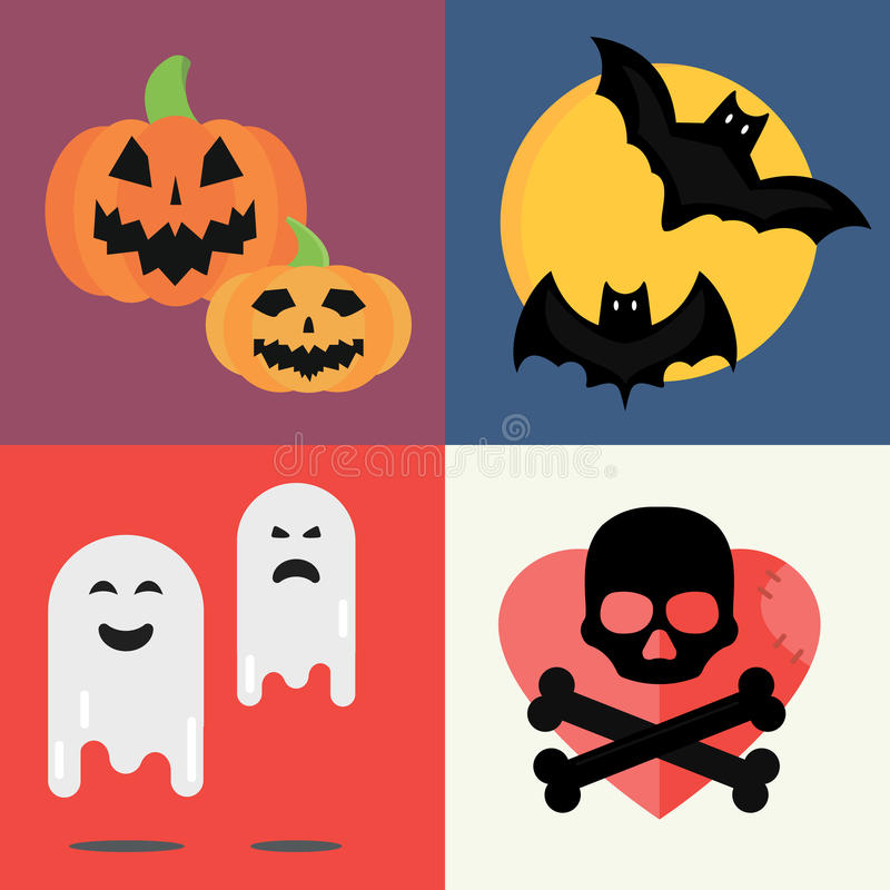 Free Halloween Vector Icons Set Traditional Trick Or Treat Celebration Cemetery Collection And Darkness Decoration Design Stock Photography - 88859062