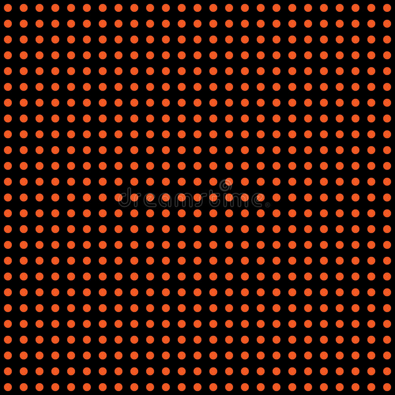 Halloween vector polka dot background. Orange and black dark endless seamless texture. Thanksgivings day pattern vector illustration