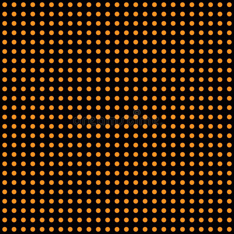 Halloween vector polka dot background. Orange and black dark endless seamless texture. Thanksgivings day pattern stock illustration