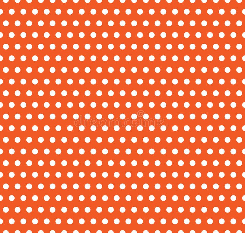 Halloween vector polka dot background. Orange and white light endless seamless texture. Thanksgivings day pattern royalty free illustration
