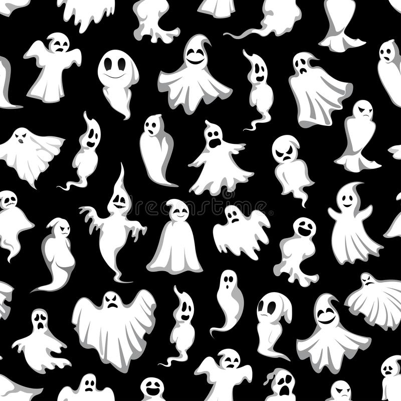 Free Halloween Vector Spooky Party Ghost Pattern Royalty Free Stock Photography - 100130647