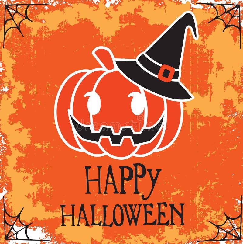 Halloween-Vektordesign des Plakats glückliches vektor abbildung