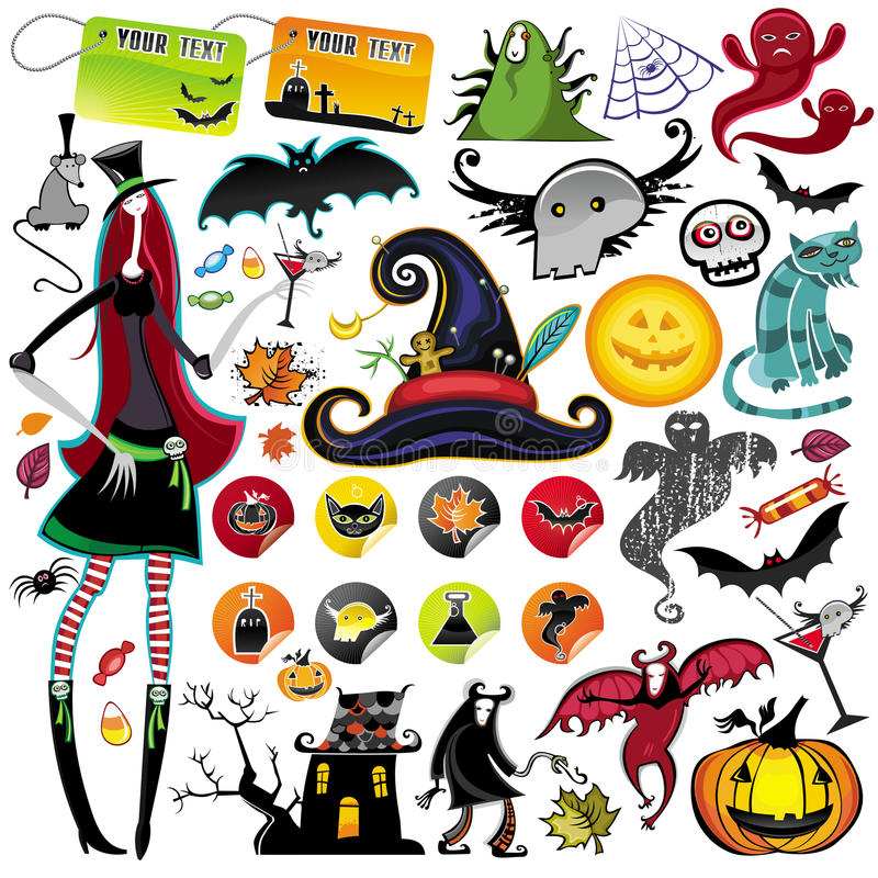 Halloween-vektorelemente stock abbildung