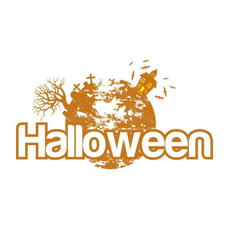 Halloween-Vektorillustration mit abstrakten Illustrationen vektor abbildung