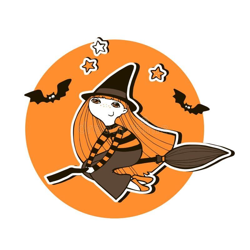 Halloween-Vektorillustration mit Hexen vektor abbildung