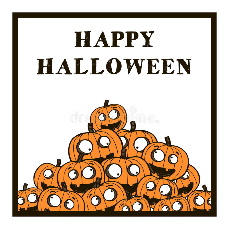 Halloween-Vektorillustration mit Kürbisen lizenzfreie abbildung
