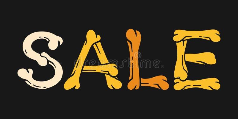 Halloween-Verkaufstypographiedesign für Fahnenwerbung stockfoto
