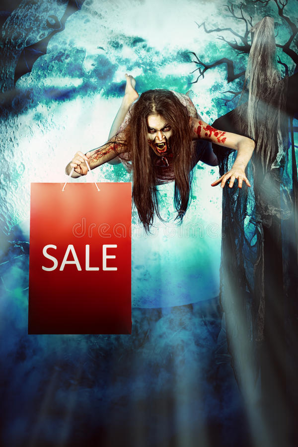 Halloween-verkoop royalty-vrije stock afbeeldingen