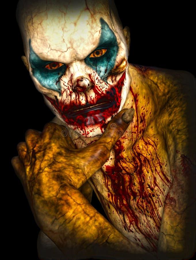 Halloween-verschrikkingsclown stock illustratie