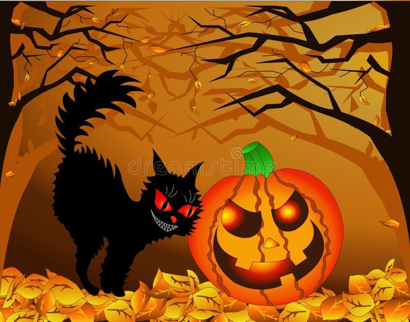 Halloween-Verschwörung (Vektor) lizenzfreie stockfotografie