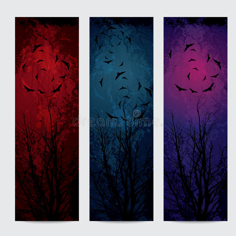 Halloween vertical banners set royalty free illustration