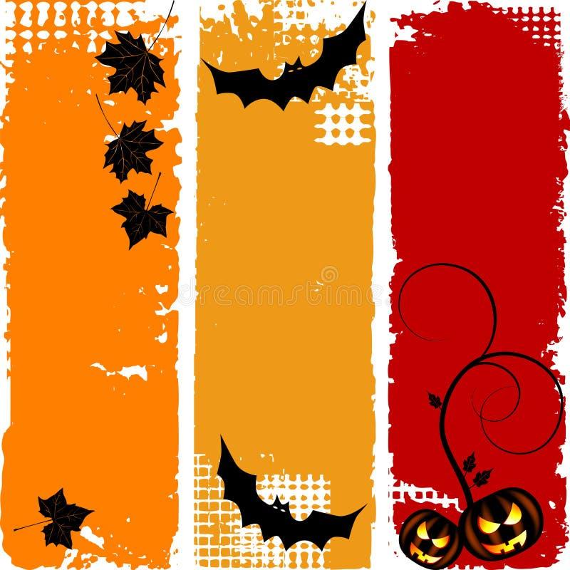 Halloween-vertikale Fahnen, Set lizenzfreie abbildung