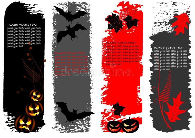 Halloween-Vertikalefahnen stock abbildung