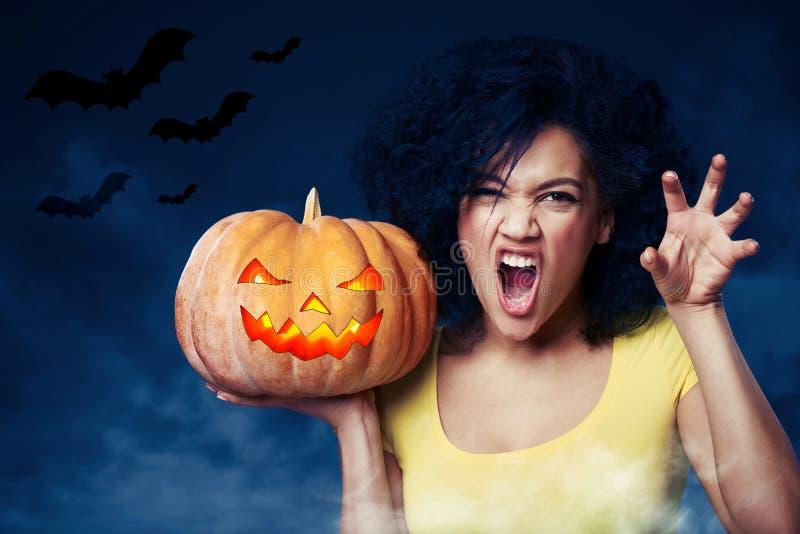 Halloween-viering stock foto