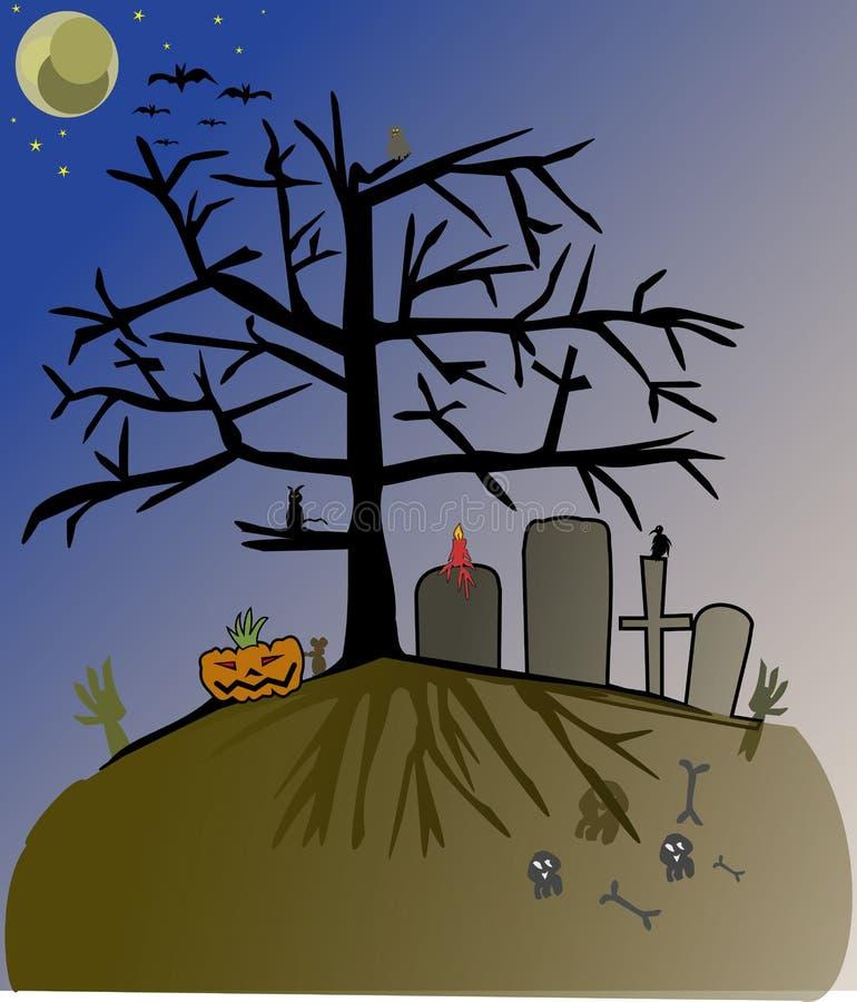 Halloween-vooravond vector illustratie