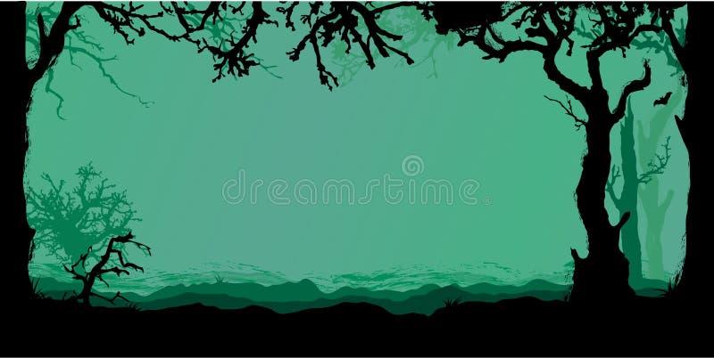 Halloween-Waldhintergrund vektor abbildung