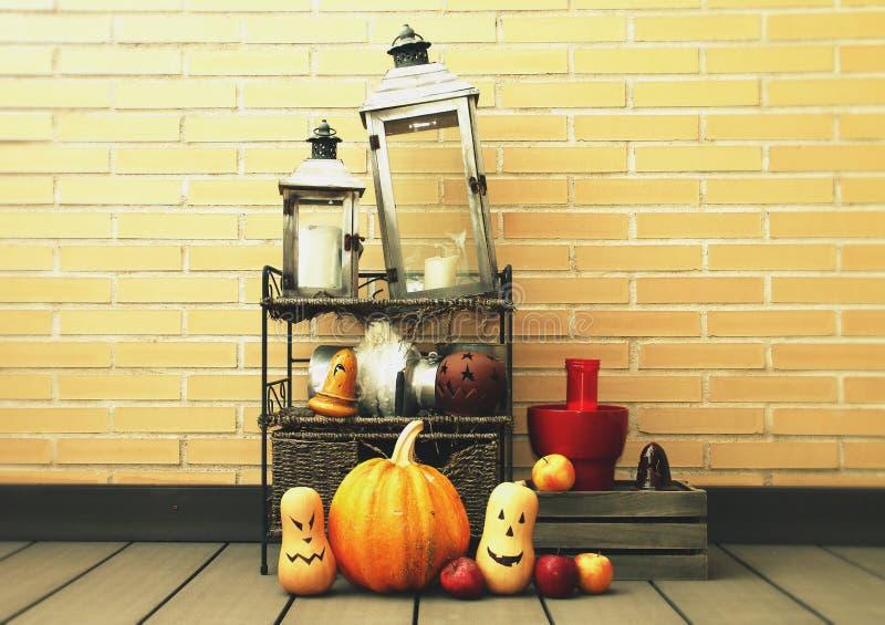 Halloween wciąż życie w ścianie fotografia royalty free