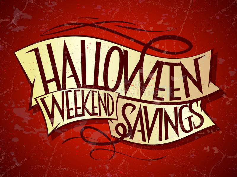 Halloween-weekendbesparingen royalty-vrije illustratie
