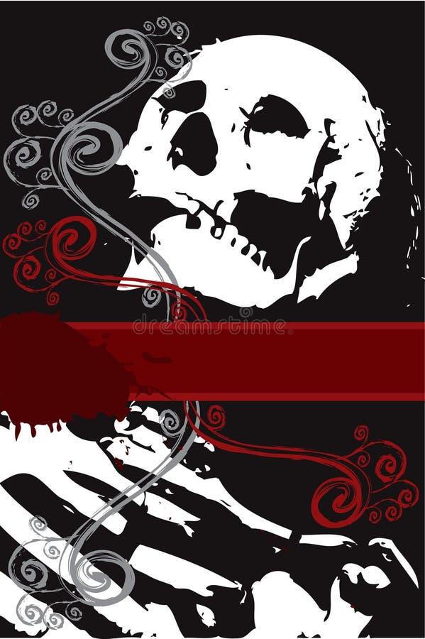 Download Halloween White Skeleton Swirl Stock Vector - Image: 3346221