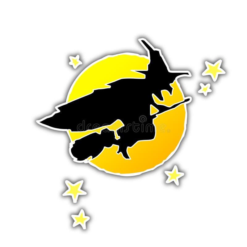 Halloween Wicth [01] royalty-vrije illustratie