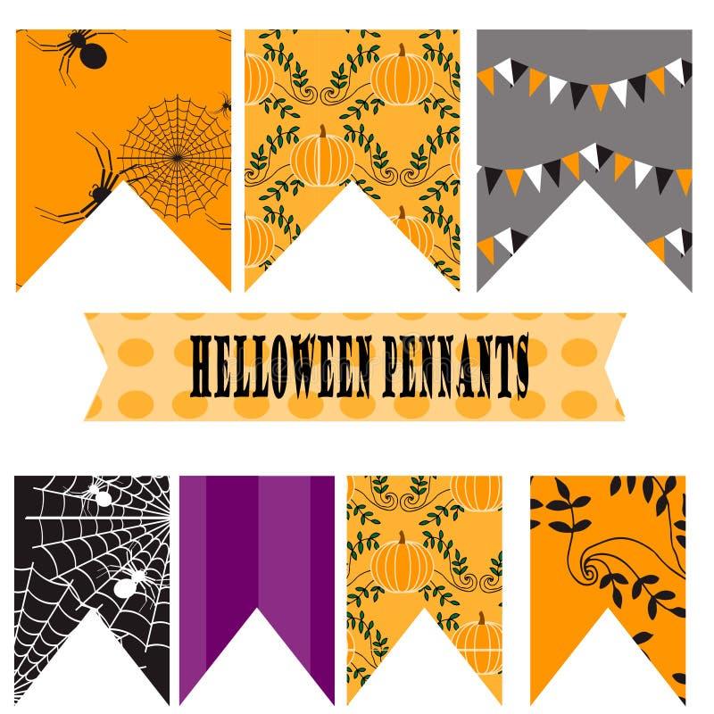 Halloween-wimpels stock illustratie