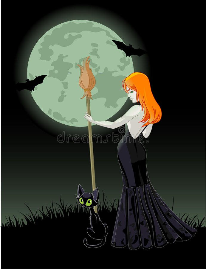 Download Halloween witch stock vector. Illustration of sensuality - 11055244