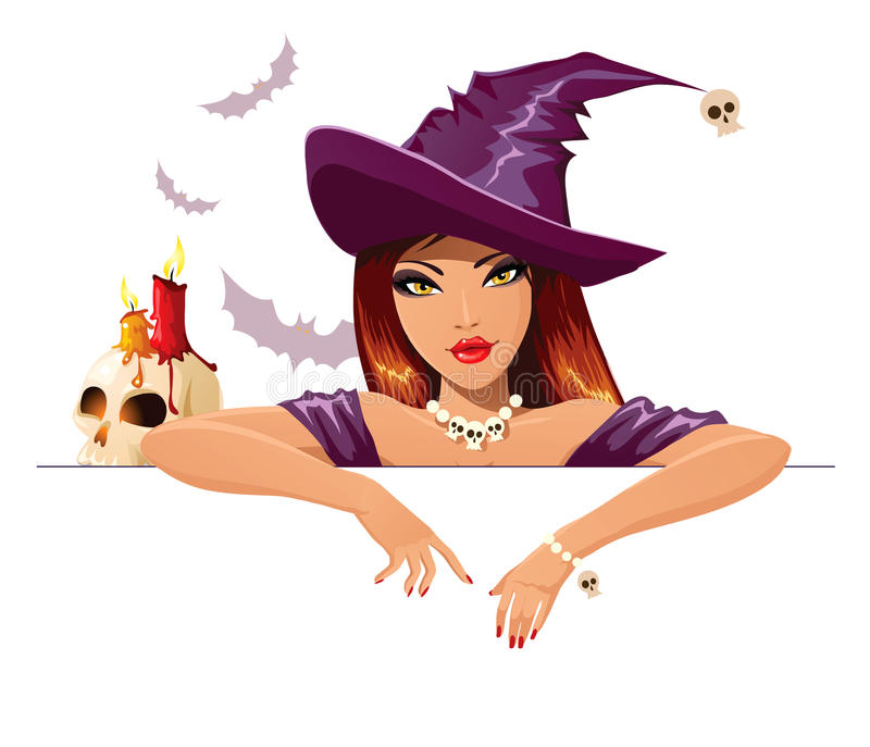 Halloween witch stock illustration