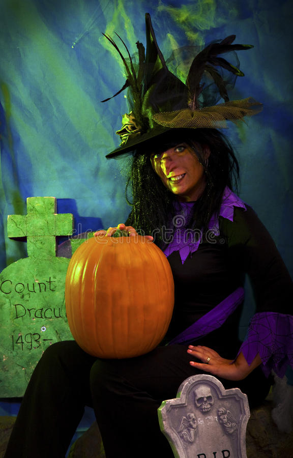 Download Halloween witch stock photo. Image of ugly, woman, fake - 25776832