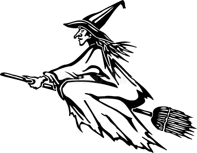 Halloween - Witch Stock Photography
