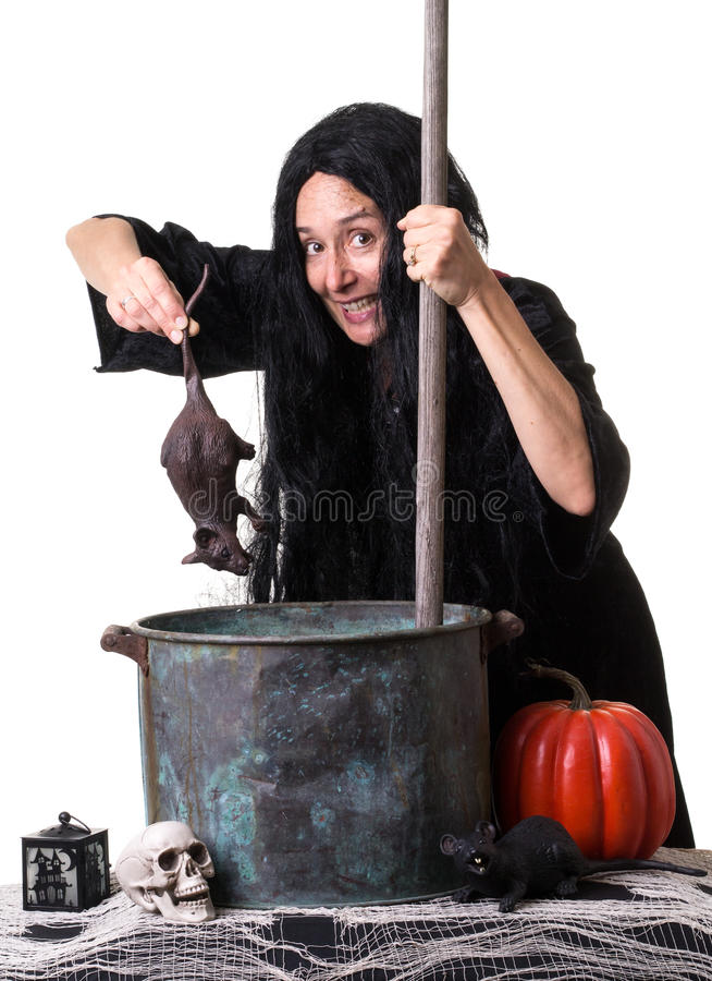 Halloween Witch Brewing Up a Spell