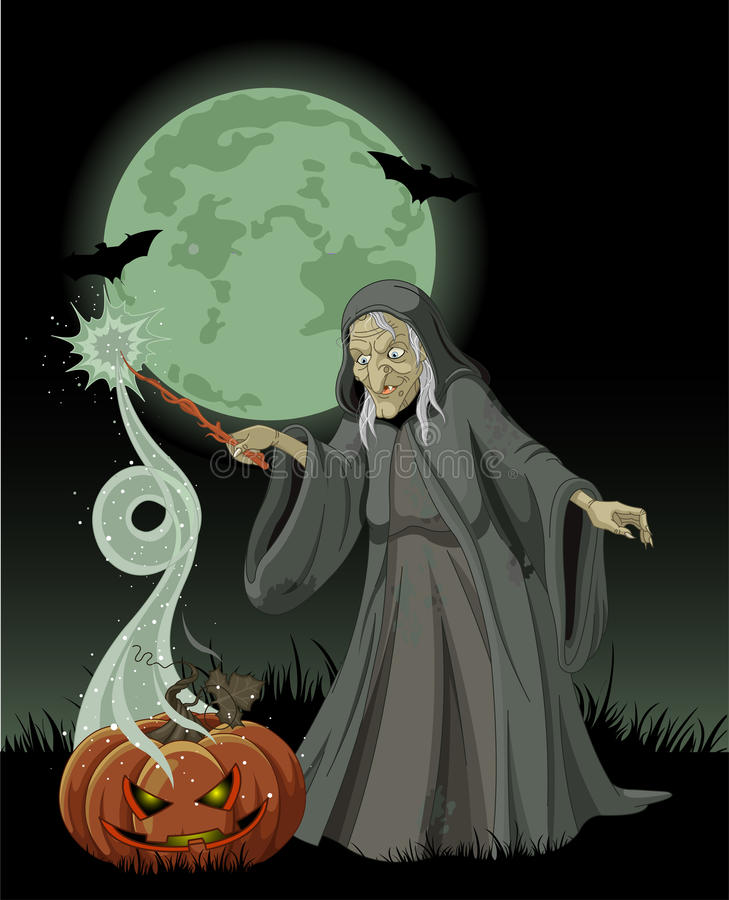 Download Halloween Witch Casts A Spell Stock Photography - Image: 34042212