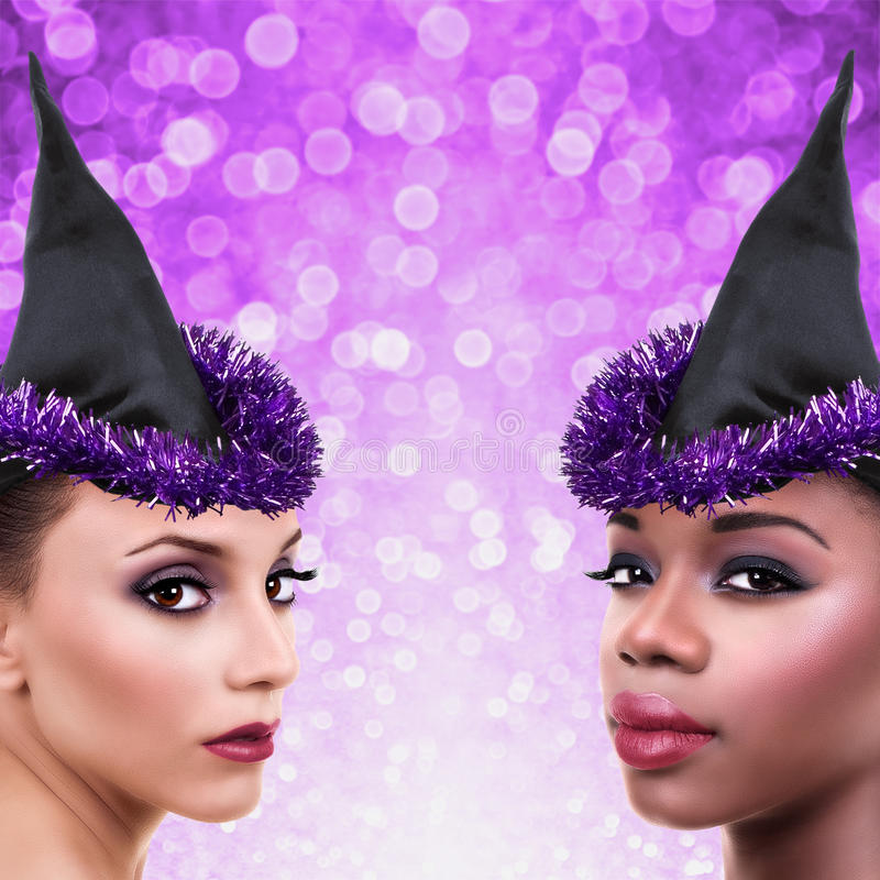 Halloween Witch Costume Woman royalty free stock photo