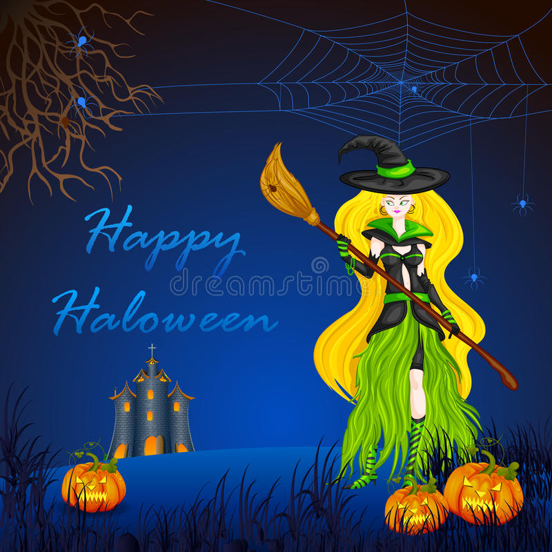 Download Halloween Witch stock vector. Illustration of broom, magical - 34298430