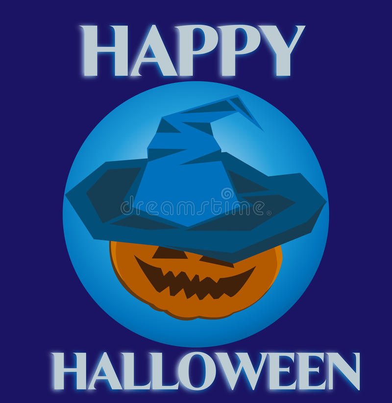 Halloween witch in hat stock image