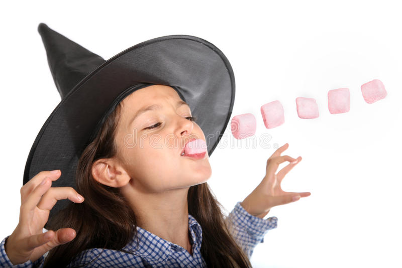Download Halloween Witch With Marshmallows Royalty Free Stock Photos - Image: 33677158