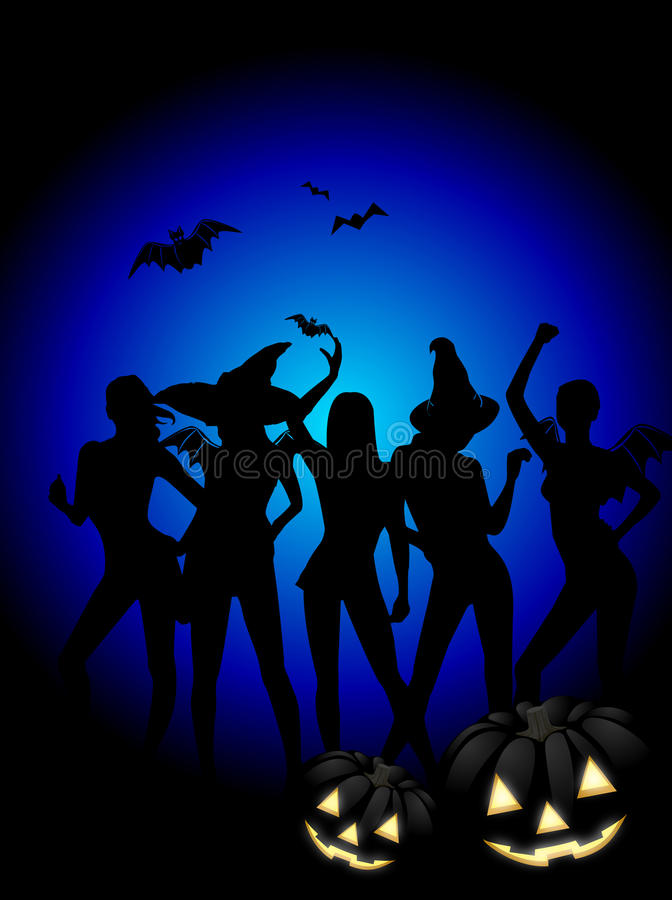 Download Halloween Witch Party stock illustration. Illustration of women - 21435703