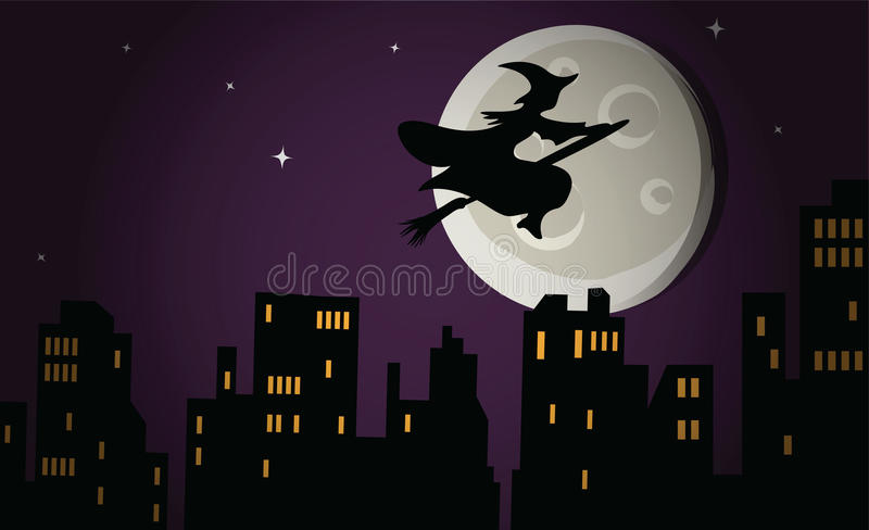 Halloween witch vector royalty free stock images