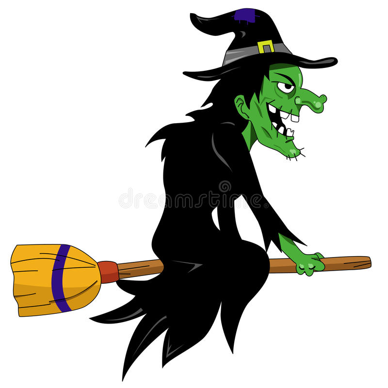 Halloween witch. Vector illustration art royalty free illustration