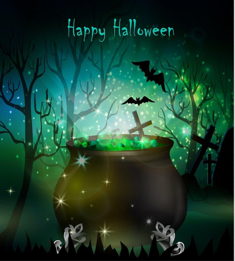 Free Halloween Witches Cauldron Royalty Free Stock Image - 77636386
