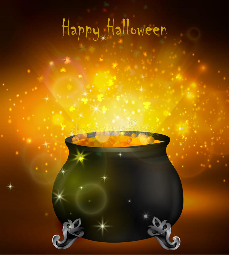 Free Halloween Witches Cauldron Royalty Free Stock Photography - 77679777