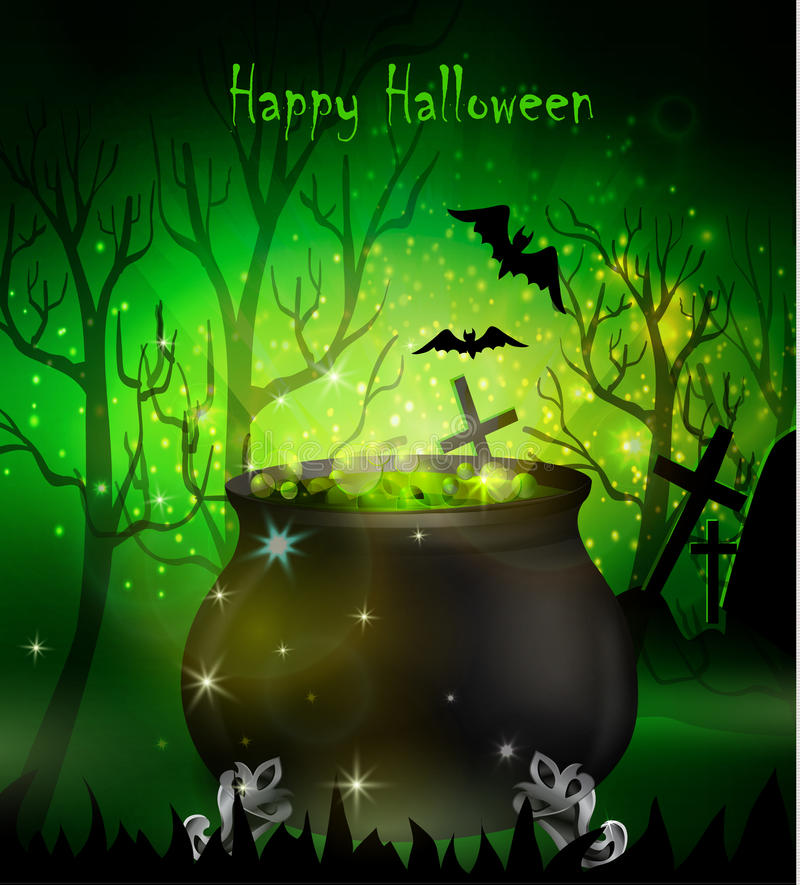 Free Halloween Witches Cauldron Royalty Free Stock Photography - 77738957