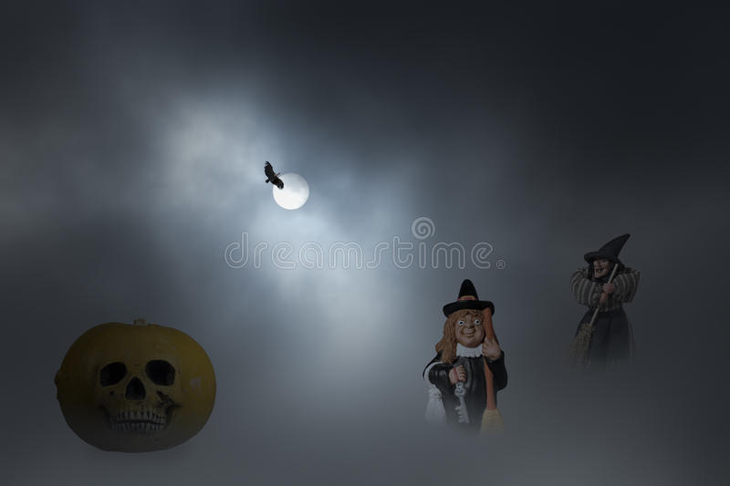 Halloween witches night royalty free stock photos