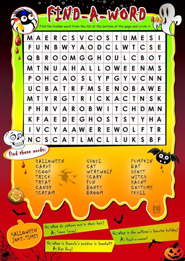 Halloween word game