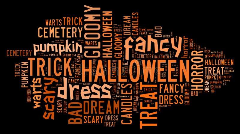 Halloween-Word Wolk royalty-vrije stock foto's